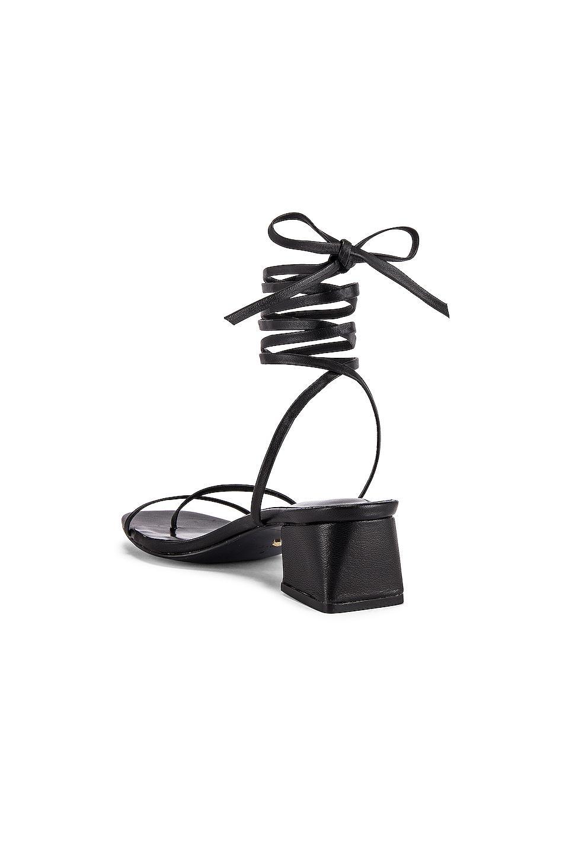 Tacón moses RAYE de Cuero de color Negro