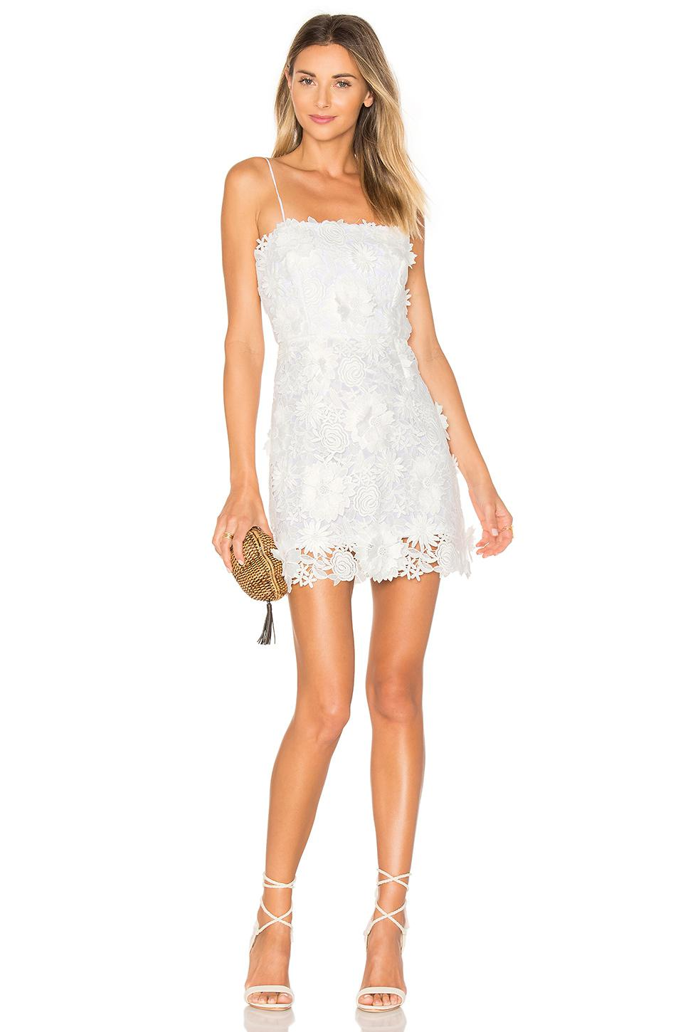 Lyst - Milly Embroidered Dress in White