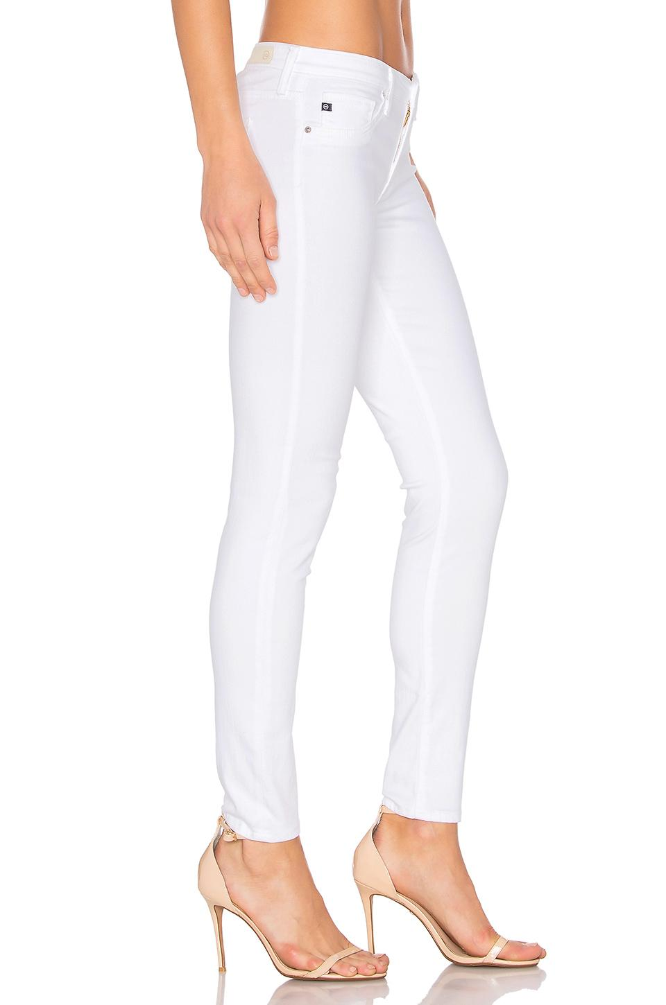 AG Jeans Cotton Legging Ankle In White. Size 25,26,30,31.