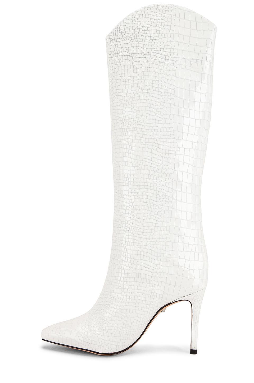 Bota maryana Schutz de Cuero de color Blanco