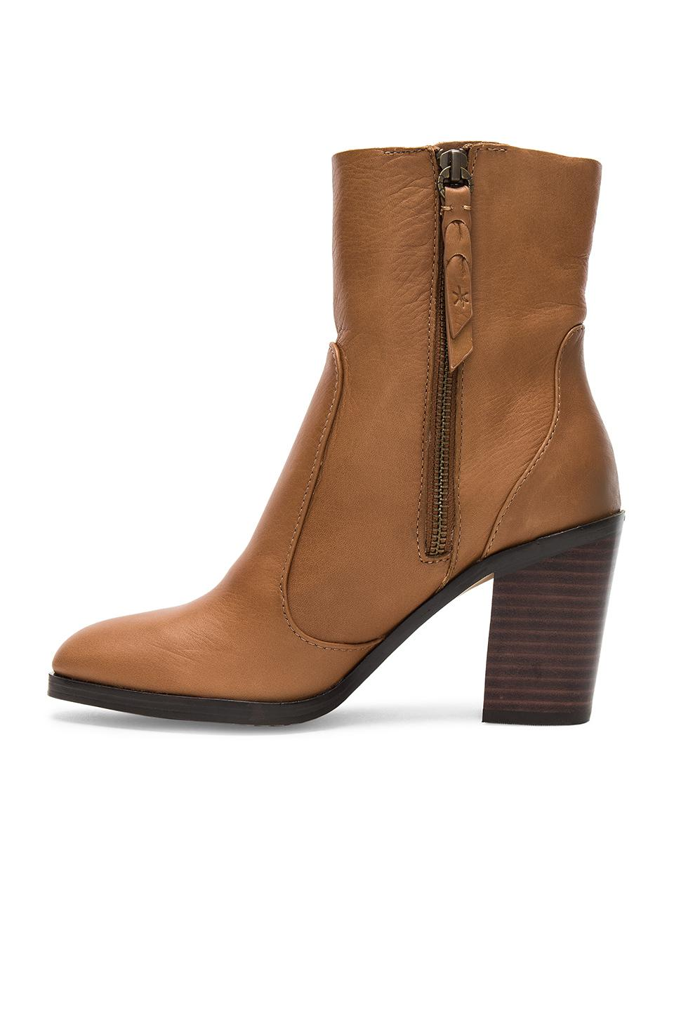 Splendid Leather Roselyn Bootie in Chestnut (Brown)