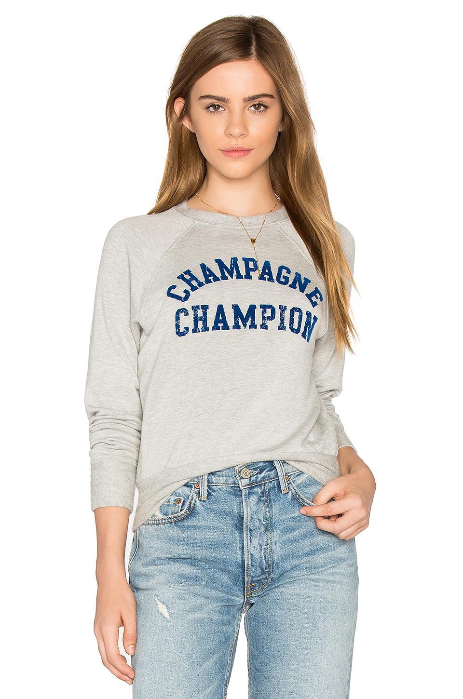 Daydreamer Cotton Champagne Champion Sweatshirt In Heather Grey Gray Lyst [ 1450 x 960 Pixel ]