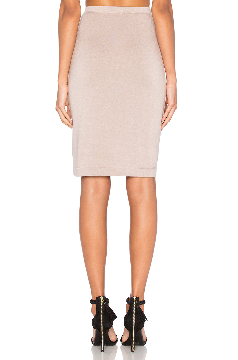 beautiful stretch crepe pencil skirt in pink lyst