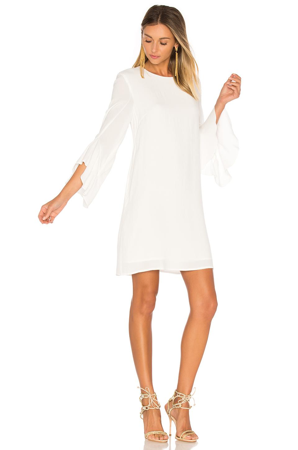 Blaque Label Ruffle Sleeve Dress In White Lyst