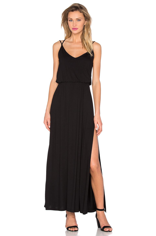 Lyst David Lerner Criss Cross Maxi Dress In Black