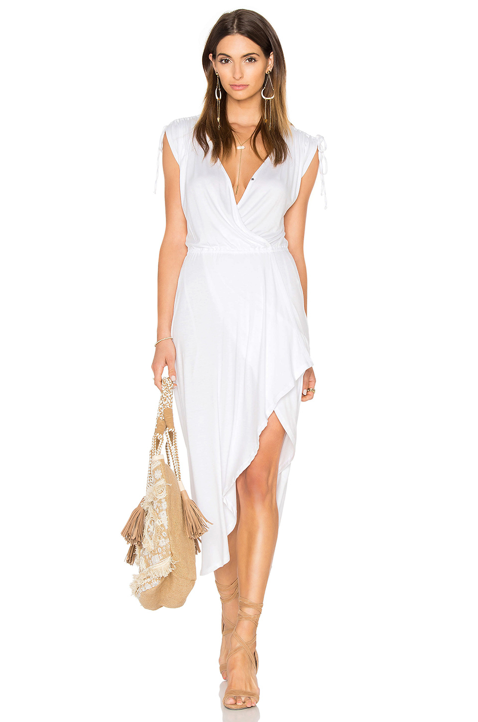 Ella Moss Bella Dress In White Lyst