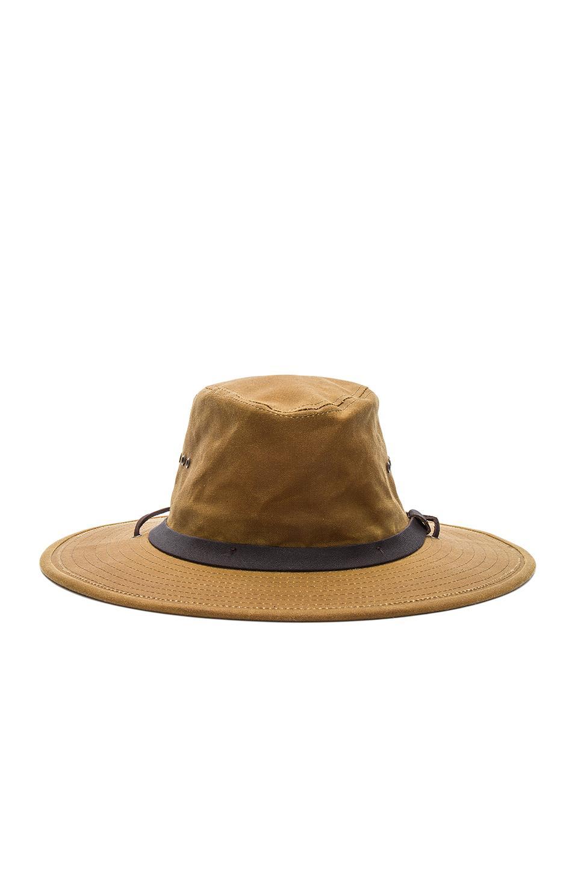 Filson Cotton Tin Bush Hat In Dark Tan Brown For Men Lyst