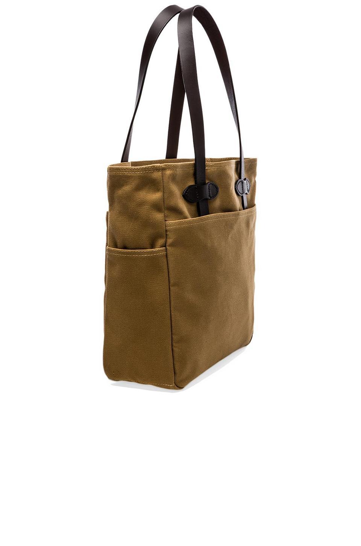Filson Cotton Open Tote Bag in Dark Tan (Brown)