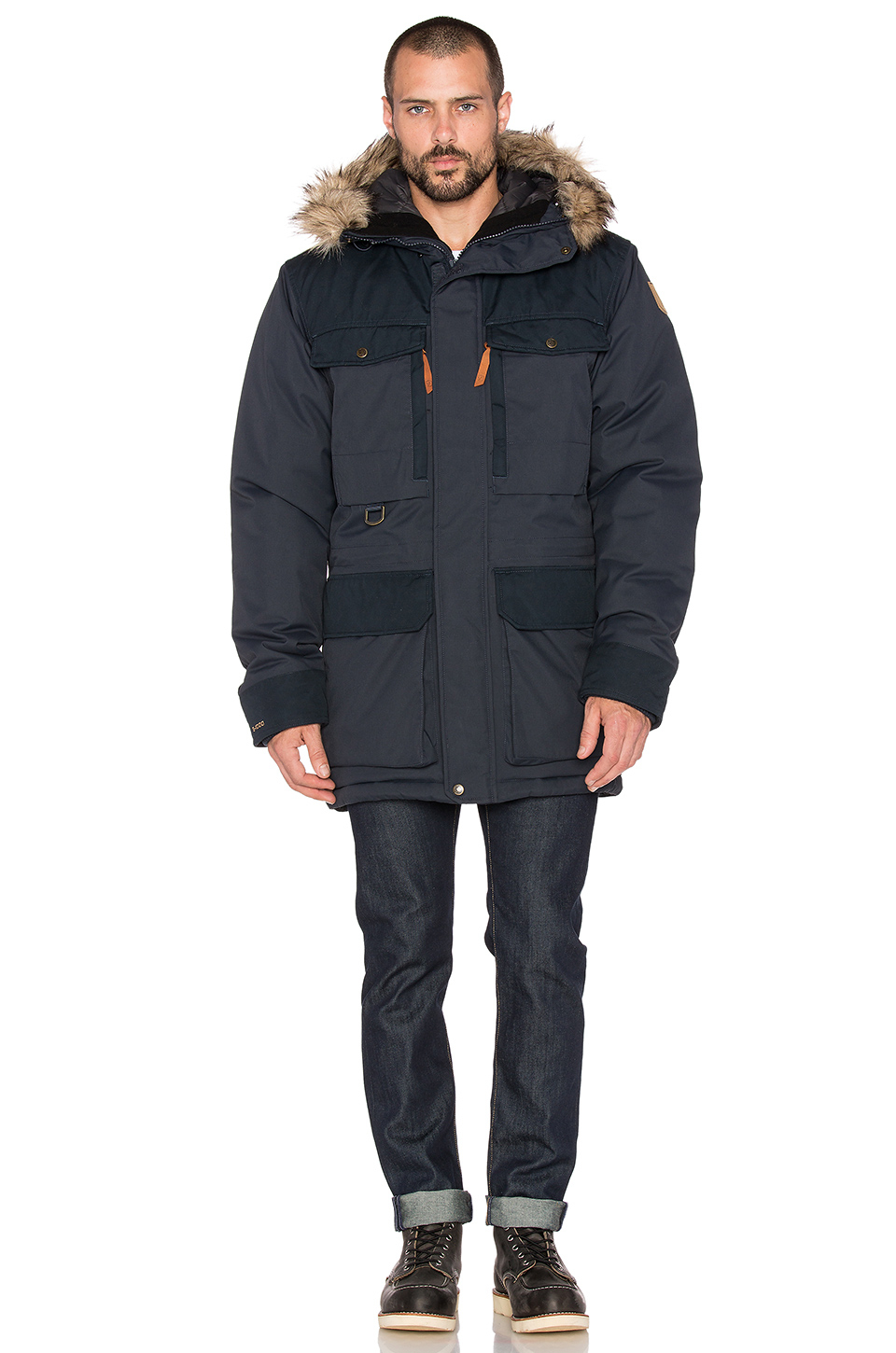 Lyst Fjallraven Polar Guide Parka With Faux Fur Lining