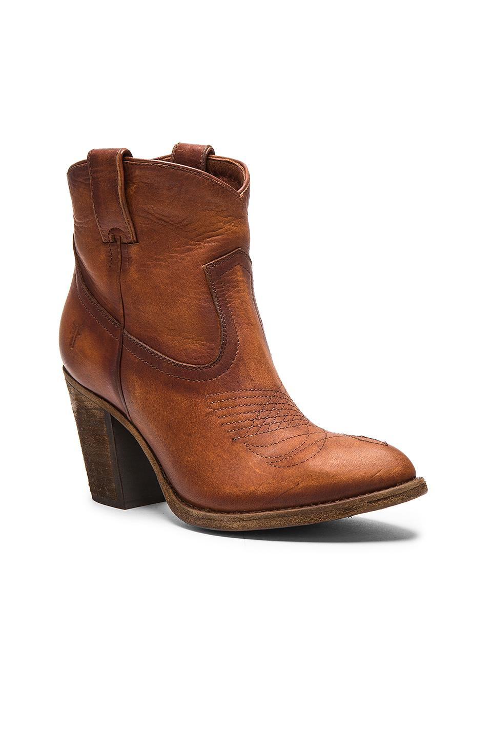 Frye Ilana Pull On Short Boot In Brown Lyst
