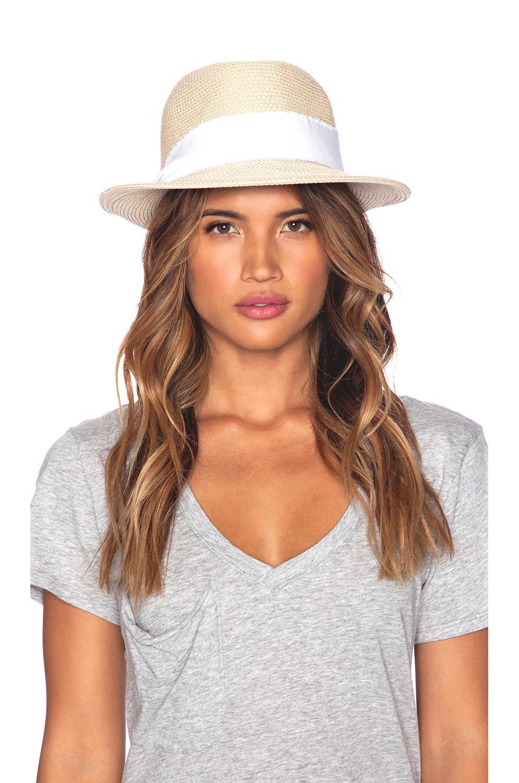 Hat Attack Fine Braid Fedora In White Lyst