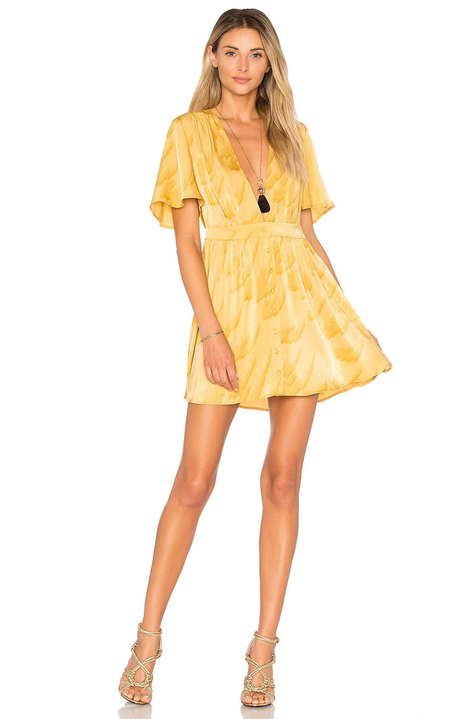 house of harlow 1960 x revolve dawn dress in yellow lyst