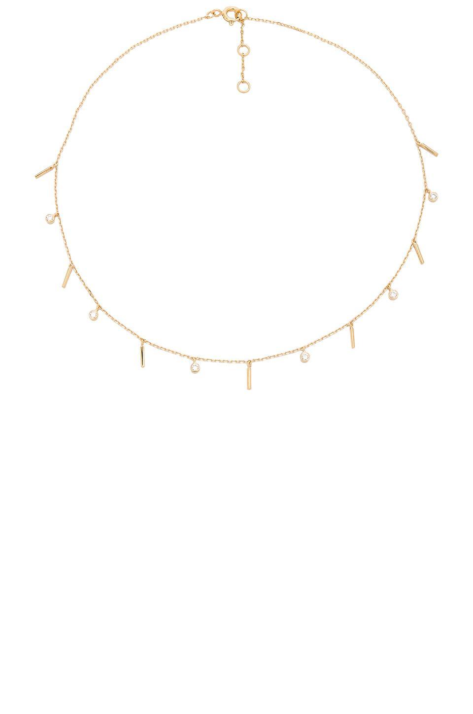 Joolz by Martha Calvo Bar Dangle Choker in Gold (Metallic)