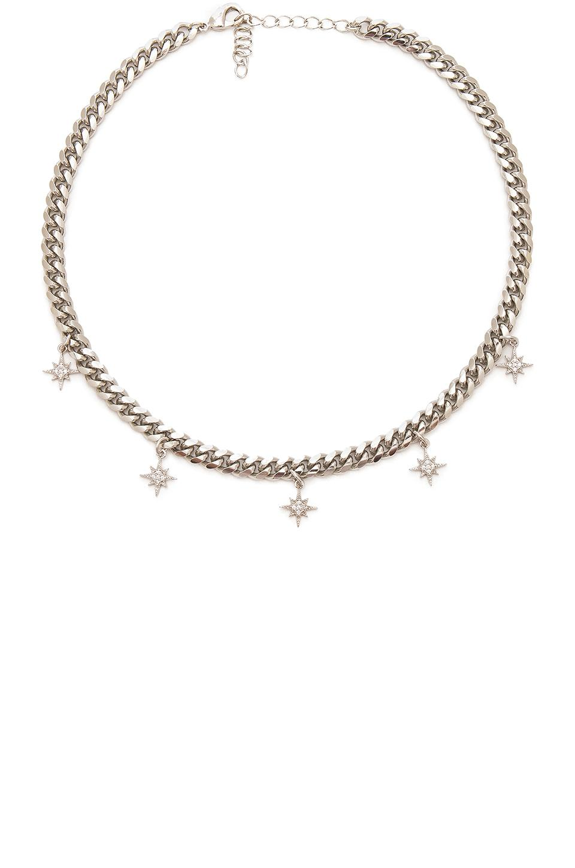 Joolz by Martha Calvo Starlight Curb Choker in Silver (Metallic)