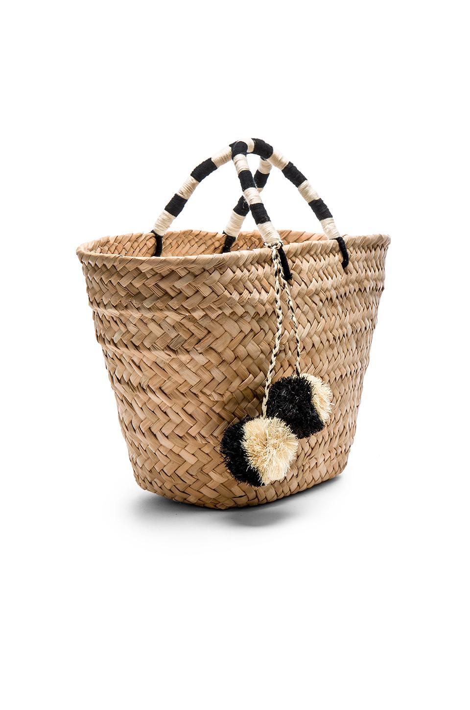 kayu st tropez tote bag in beige black white lyst