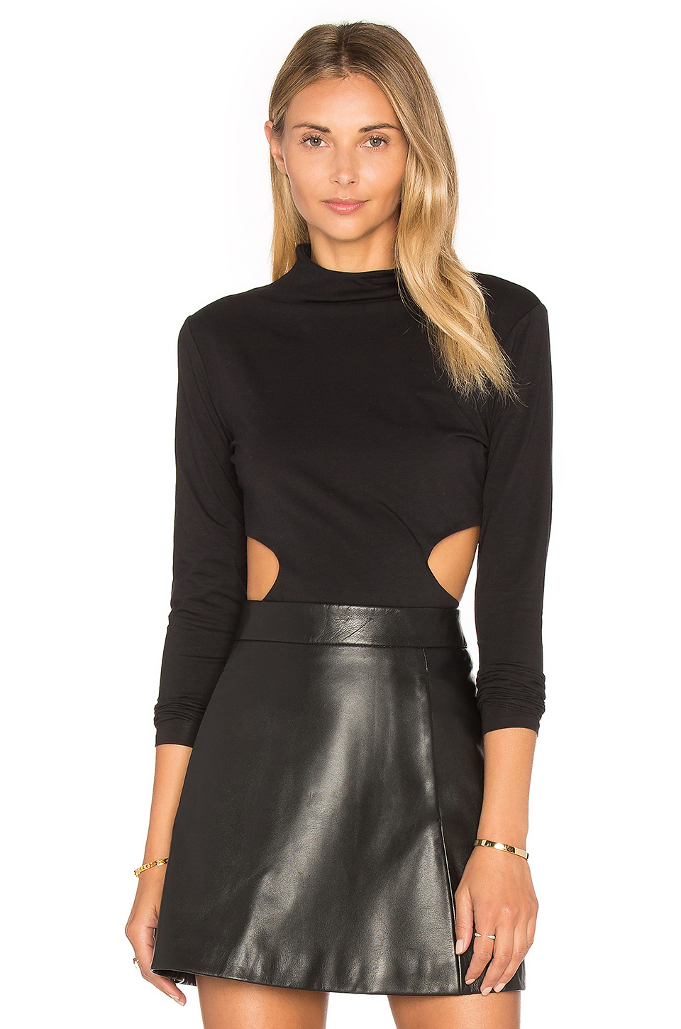 Kendall + Kylie Side Cut Out Top In Black