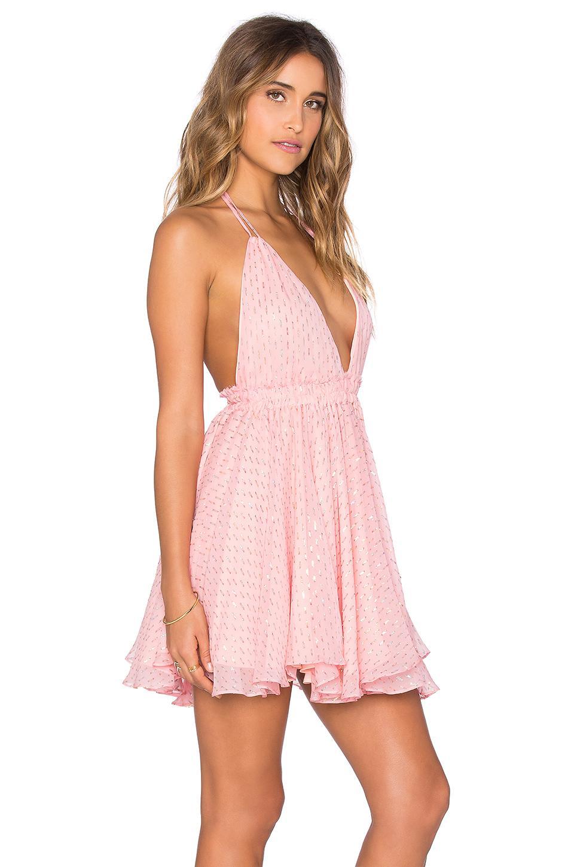 Loveshackfancy Halter Mini Dress In Pink Lyst