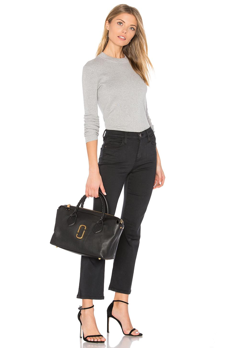 Marc Jacobs Leather Noho Medium E/w Tote Bag in Black