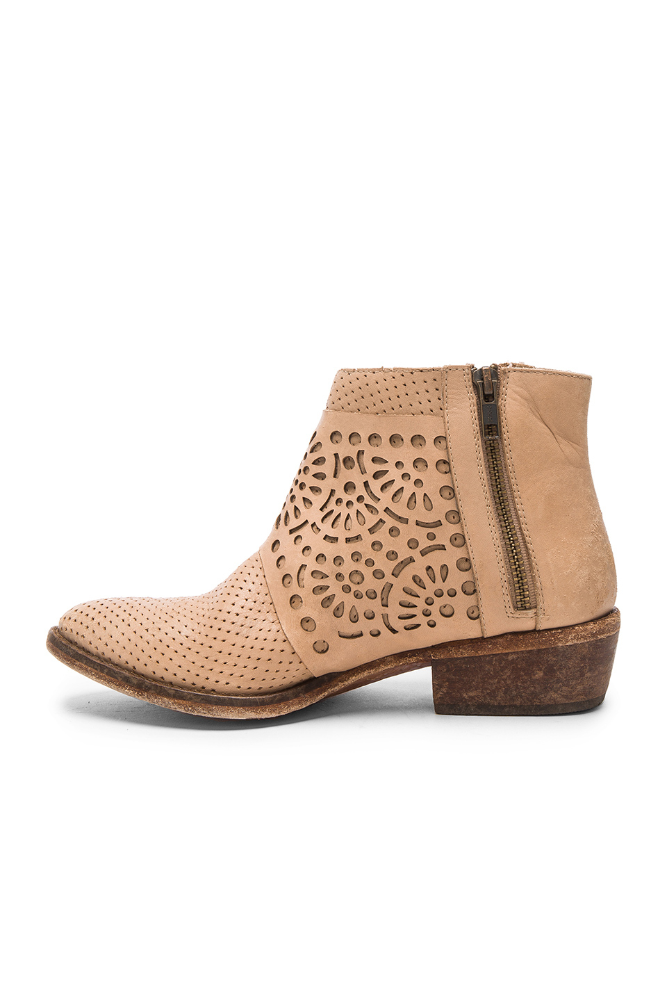 Matisse Leather Raliegh Booties in Natural