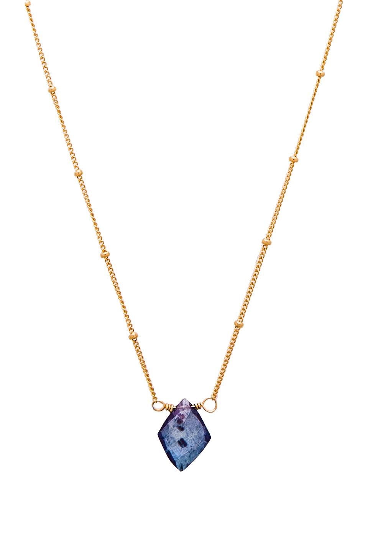 natalie b jewelry mystic indigo quartz necklace in