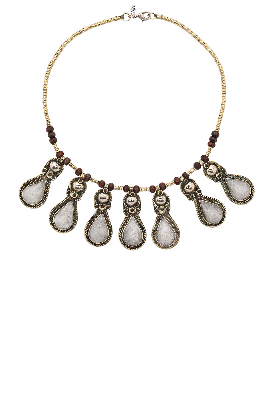 natalie b jewelry drops of ice necklace in metallic lyst