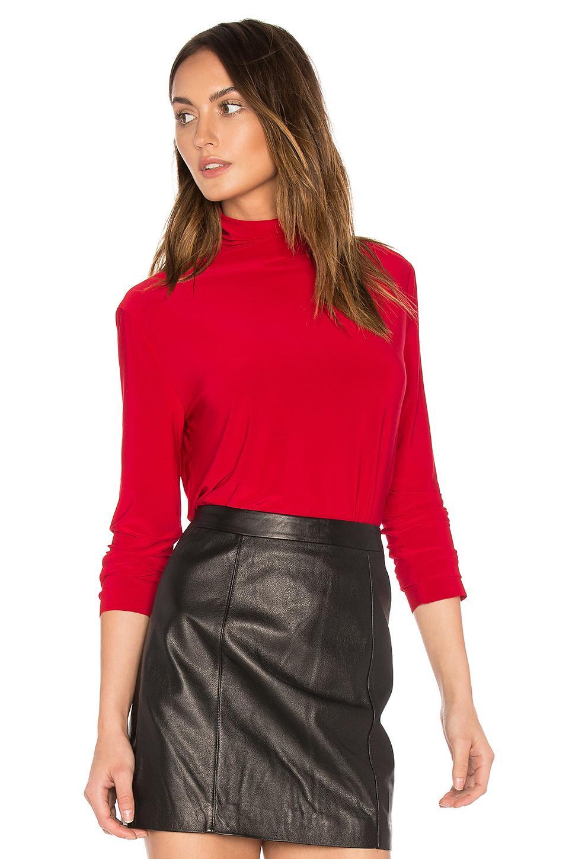 Lyst Norma Kamali Long Sleeve Turtleneck In Red