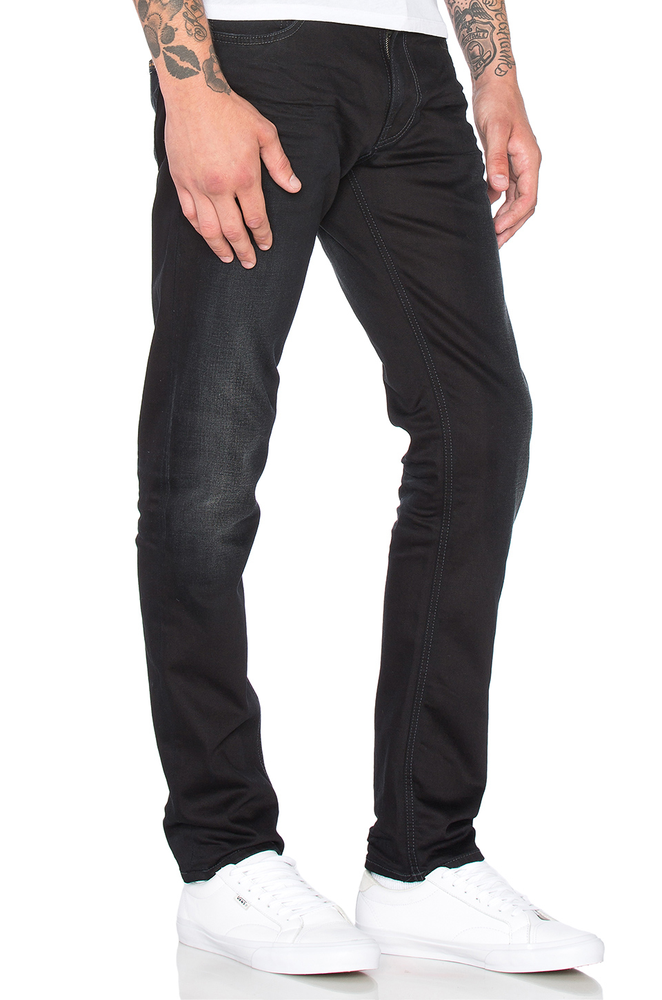 Nudie Jeans Thin Finn: Back 2 Black Jeans pics