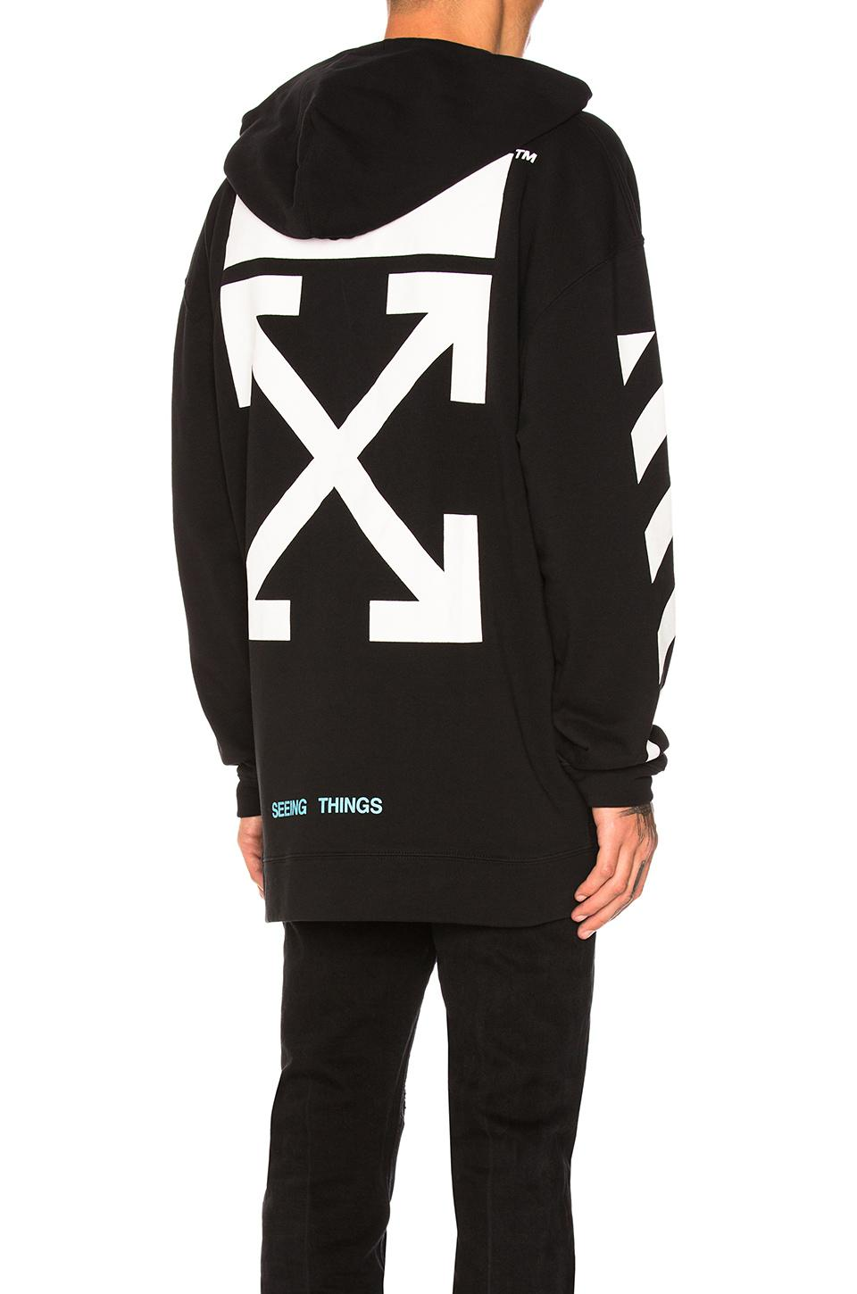 Off White Spring Summer 2017 Women S Collection: Off-White C/O Virgil Abloh Diagonal Arrows Hoodie
