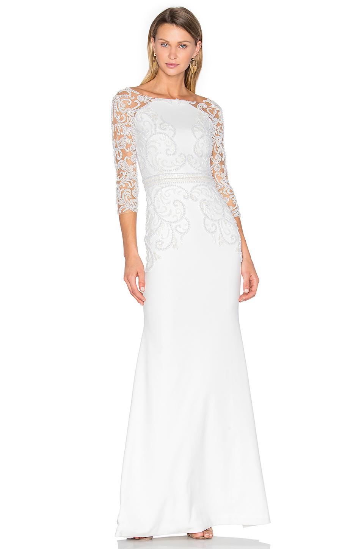 Patricia bonaldi Long Sleeve Embellished Gown