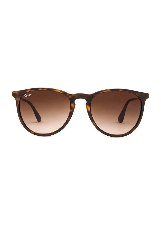 6fe171eb914 Ray Ban Womens Erika Round Sunglasses Tortoise Brown Watches ...