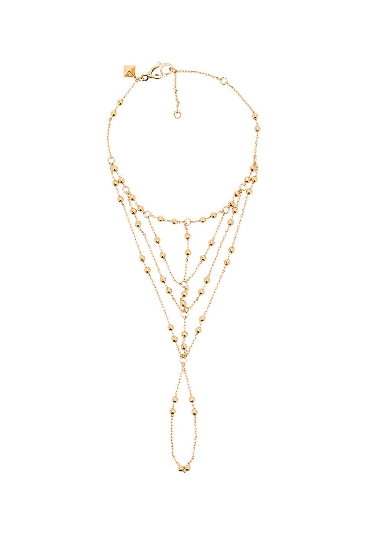 Rebecca Minkoff Multi Bead Hand Chain in Gold (Metallic)