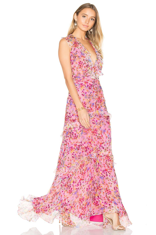 Saloni Rita Dress In Pink Lyst
