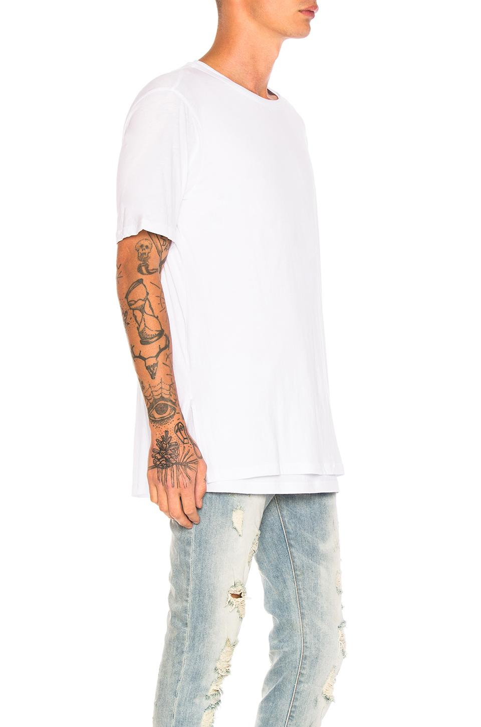 Stampd Cotton Echo Tee in White for Men