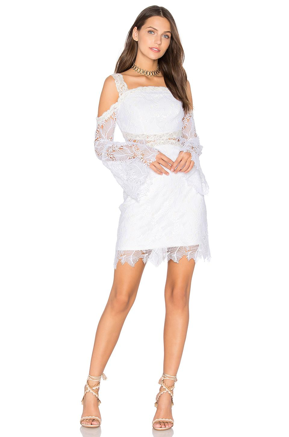 Three floor angelic dress in white lyst for Three floor yellow dress