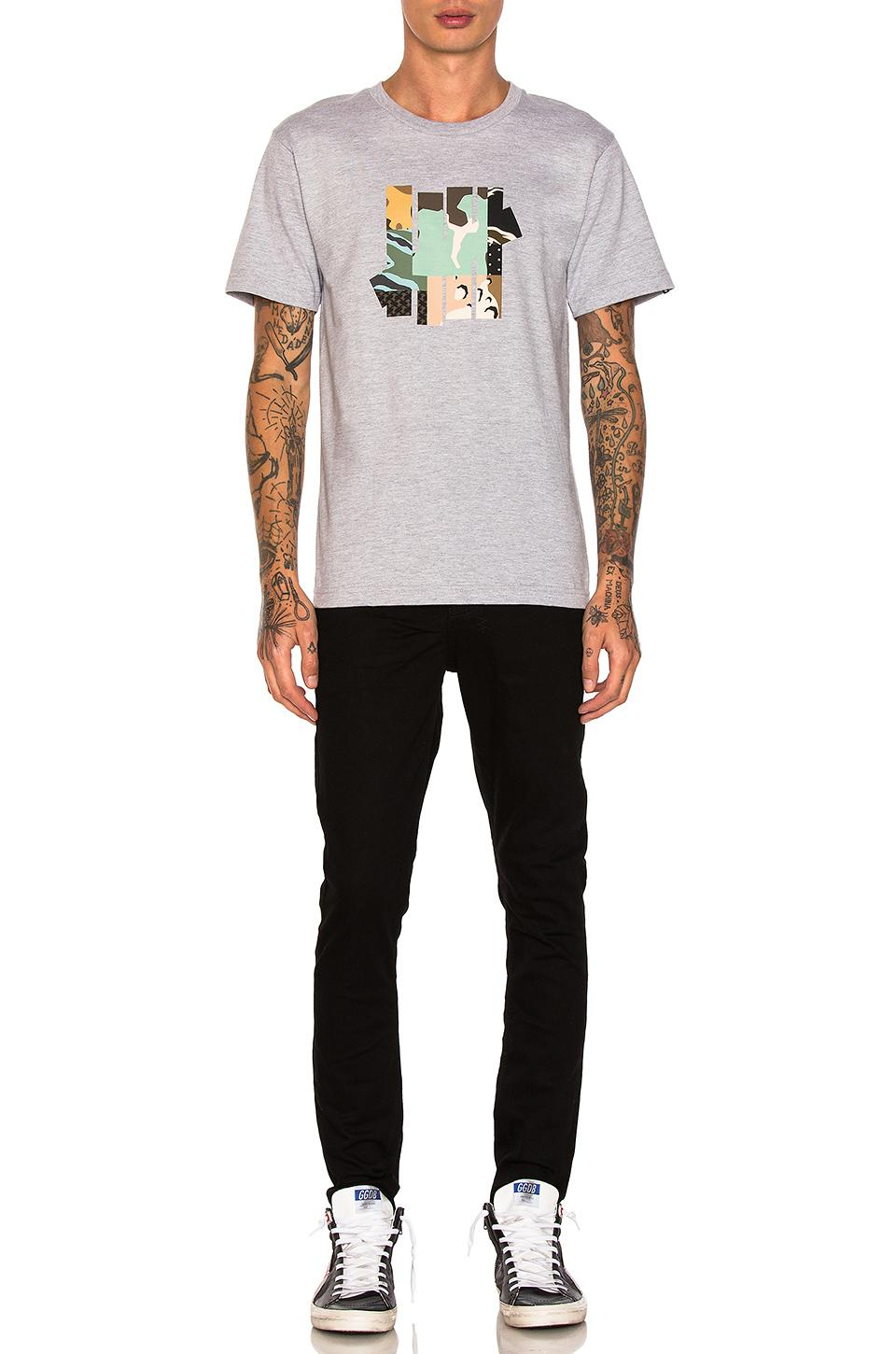 Undefeated Cotton Patchwork Strike Tee in Grey Heather (Grey) for Men