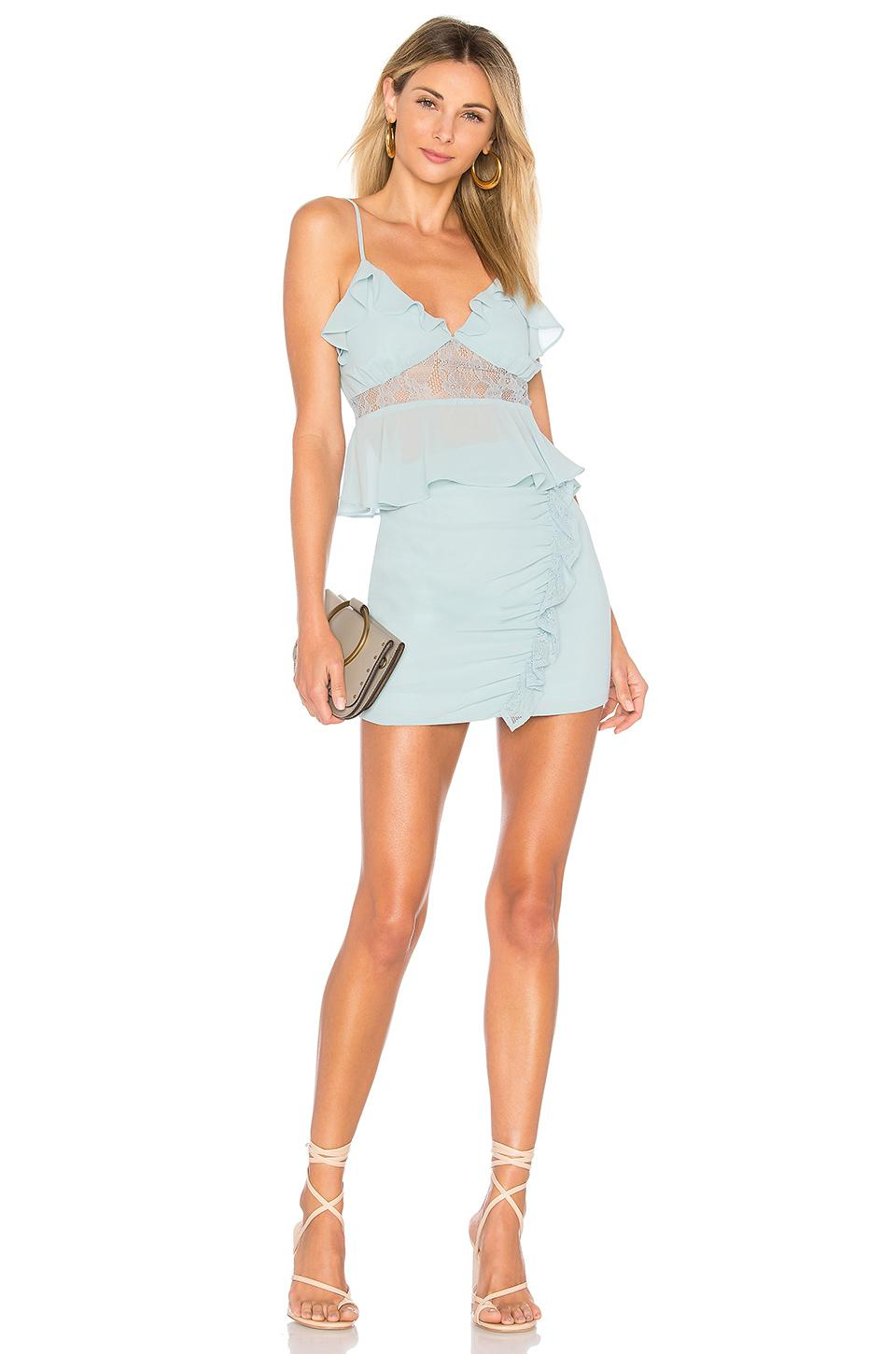 Lovers + Friends Synthetic Mik Top in Blue