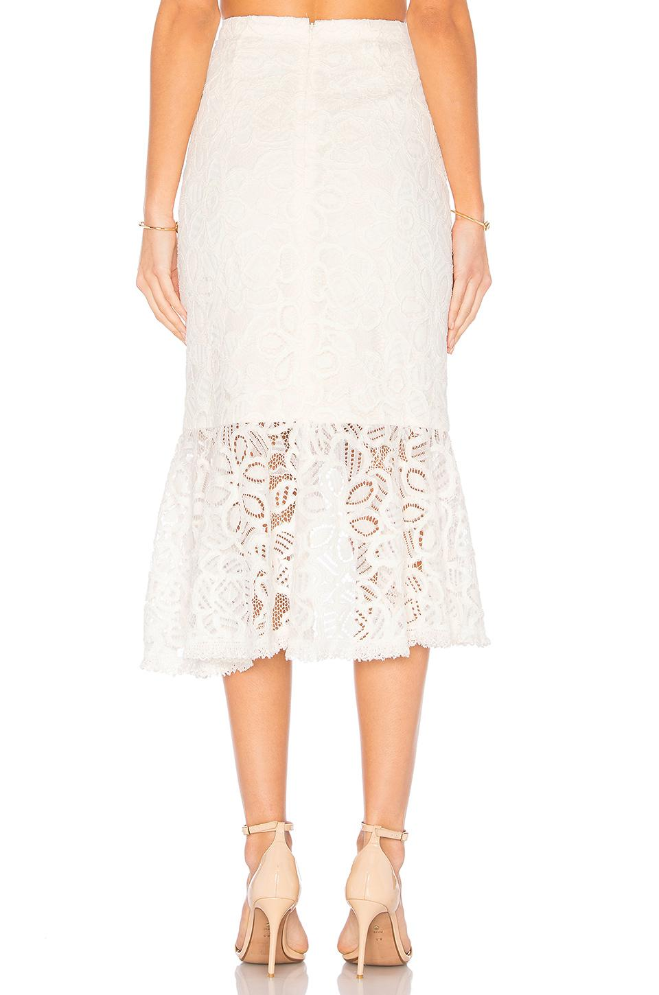 Alexis Lace Marcello Skirt in White