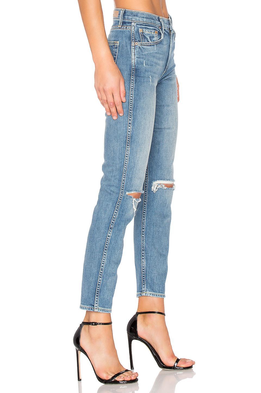GRLFRND Denim X REVOLVE PETITE Naomi High-Rise Jean in Blau 6u2RM