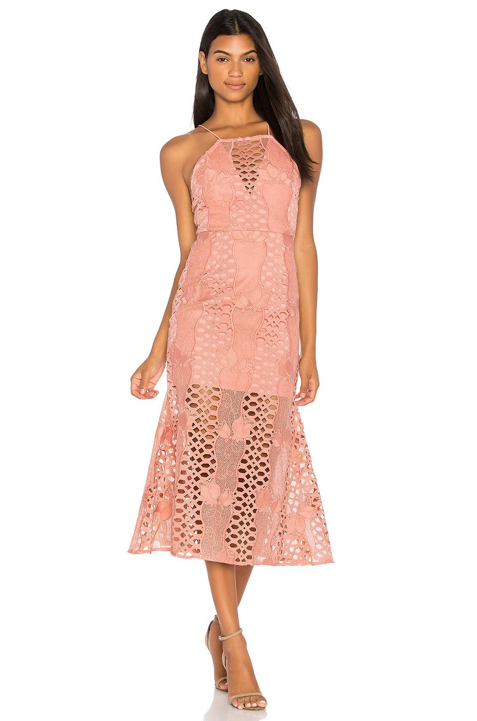 deaef73b70d2 Endless Rose Mermaid Fit Lace Dress in Pink - Lyst