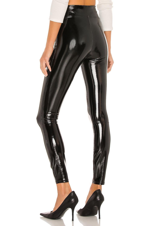 Spanx Faux Patent Leather Leggings in Schwarz   Lyst