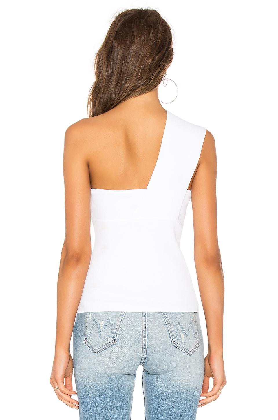 0c4e7b964642b0 Autumn Cashmere One Shoulder Tube Top in White - Lyst