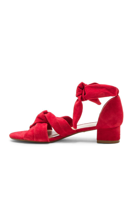 Raye Suede Aurora Sandal In Red Lyst