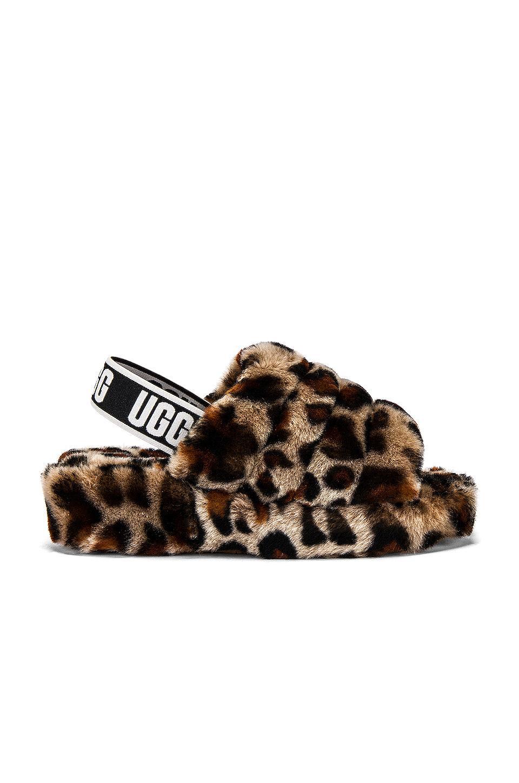 UGG Rubber Fluff Yeah Leopard-print