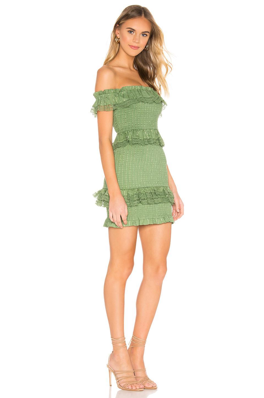 Tularosa Teri Dress in Grün
