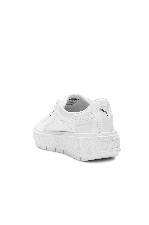 puma basket platform trace white
