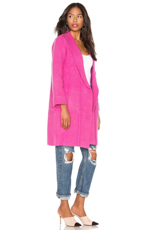 389caca6b Lyst - Elliatt Olivine Coat in Pink