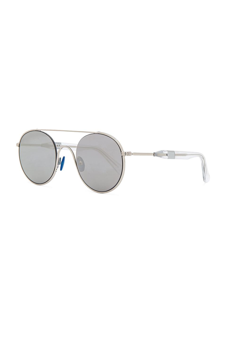 Westward Leaning Leather Cellophane Disco Sunglasses