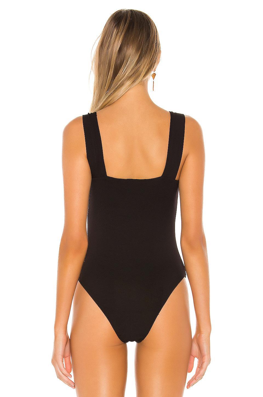 Ola Mari Half Zippered Back Sleeveless Bodysuit