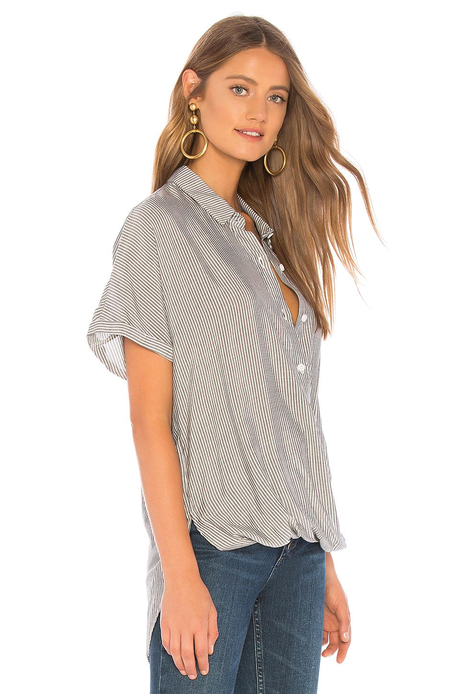 ae14c05201a4 Lyst - BCBGeneration Wrap Hem Dolman Sleeve Shirt in Gray