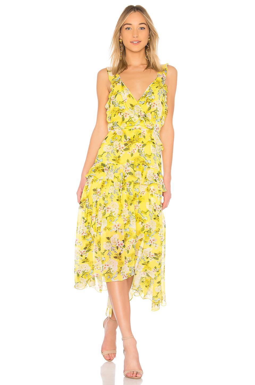 Lyst Marissa Webb Kaya Dress In Yellow Save 20035778175313055